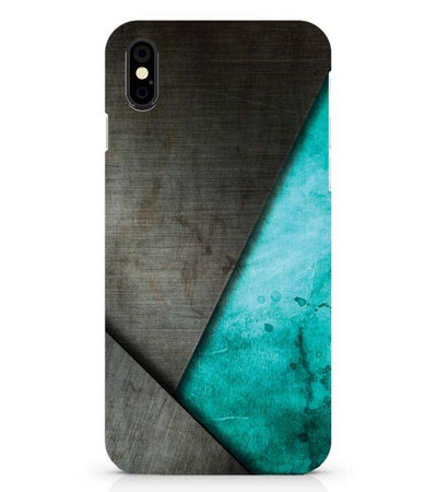 Grey and Green Back Cover for Apple iPhone X