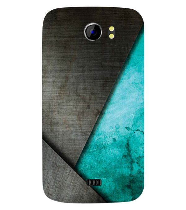 huge discount 0520b dba5e Grey and Green Back Cover for Micromax A110 Canvas 2