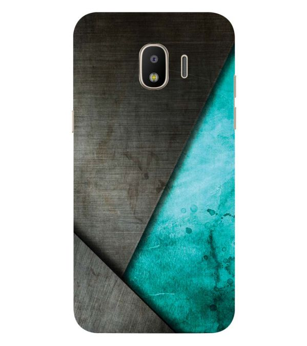 Grey and Green Back Cover for Samsung Galaxy J2 (2018)