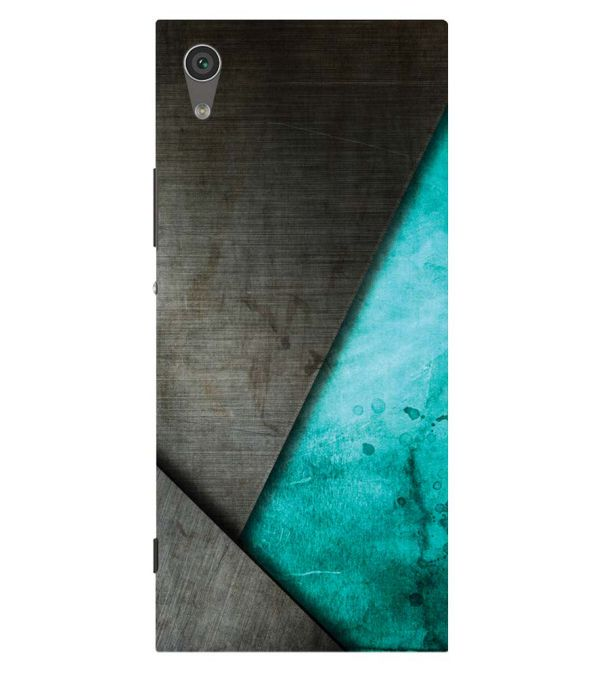 Grey and Green Back Cover for Sony Xperia XA1 Plus