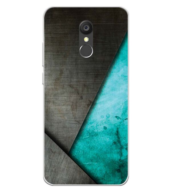 Grey and Green Soft Silicone Back Cover for Panasonic Eluga Ray 550