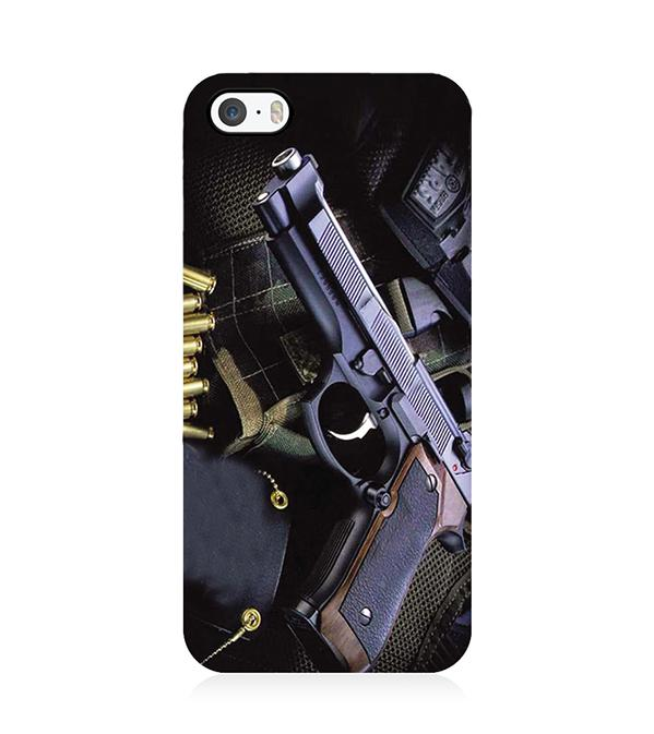 Guns And Bullets Back Cover for Apple iPhone 5 and iPhone 5S and iPhone SE