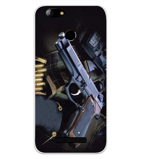 Guns And Bullets Back Cover for Intex Aqua Lions X1-Image3