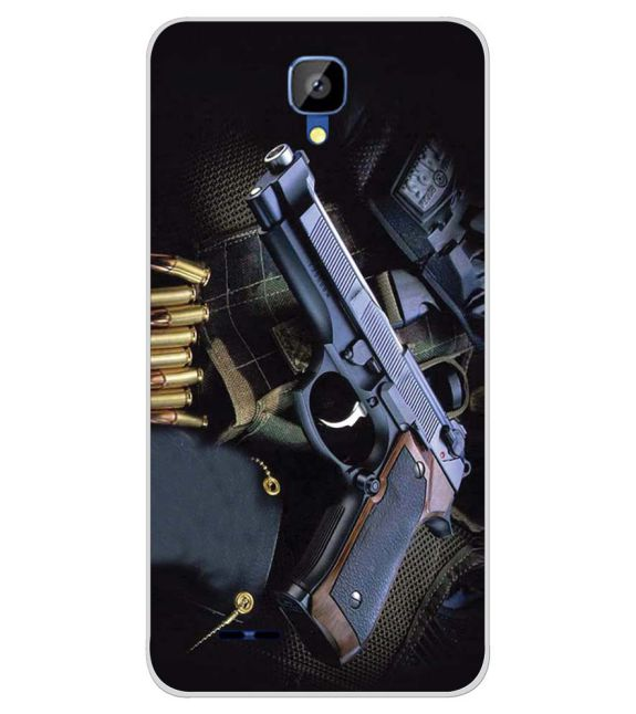 Guns And Bullets Back Cover for Karbonn Aura Champ-Image3