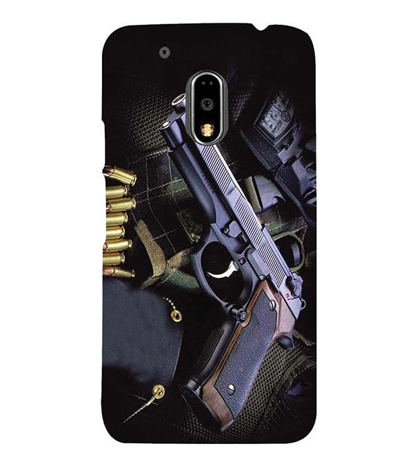 Guns And Bullets Back Cover for Motorola Moto G4 and Moto G4 Plus