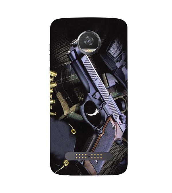 Guns And Bullets Back Cover for Motorola Moto Z2 Play