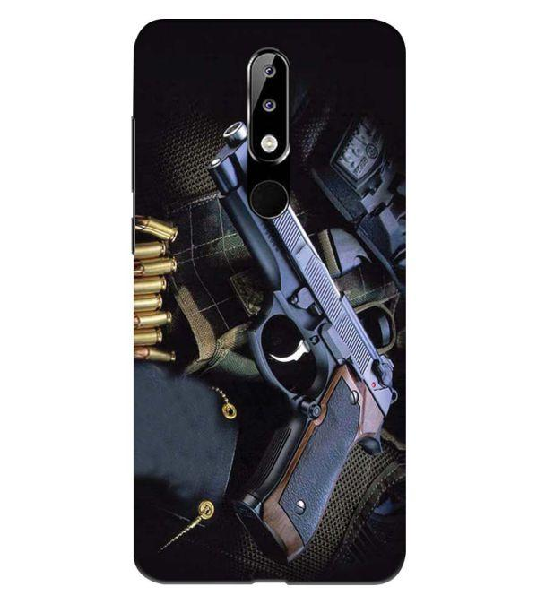 Guns And Bullets Back Cover for Nokia 5.1 Plus (Nokia X5)
