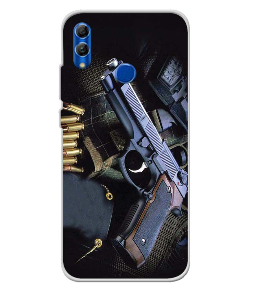 Guns And Bullets Soft Silicone Back Cover for Honor 10 Lite