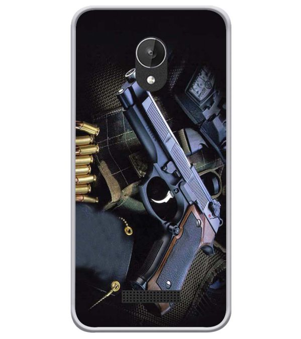 Guns And Bullets Soft Silicone Back Cover for Micromax Spark Q380