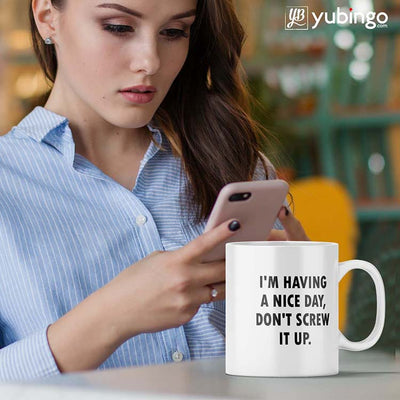 Having a Nice Day Coffee Mug-Image3
