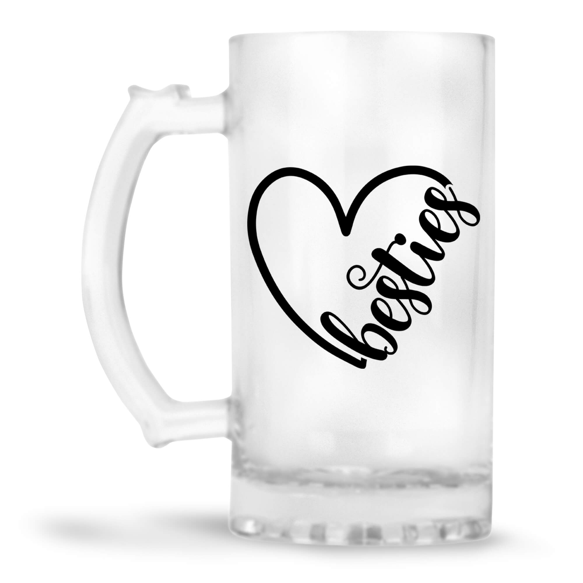 Heart Besties Beer Mug