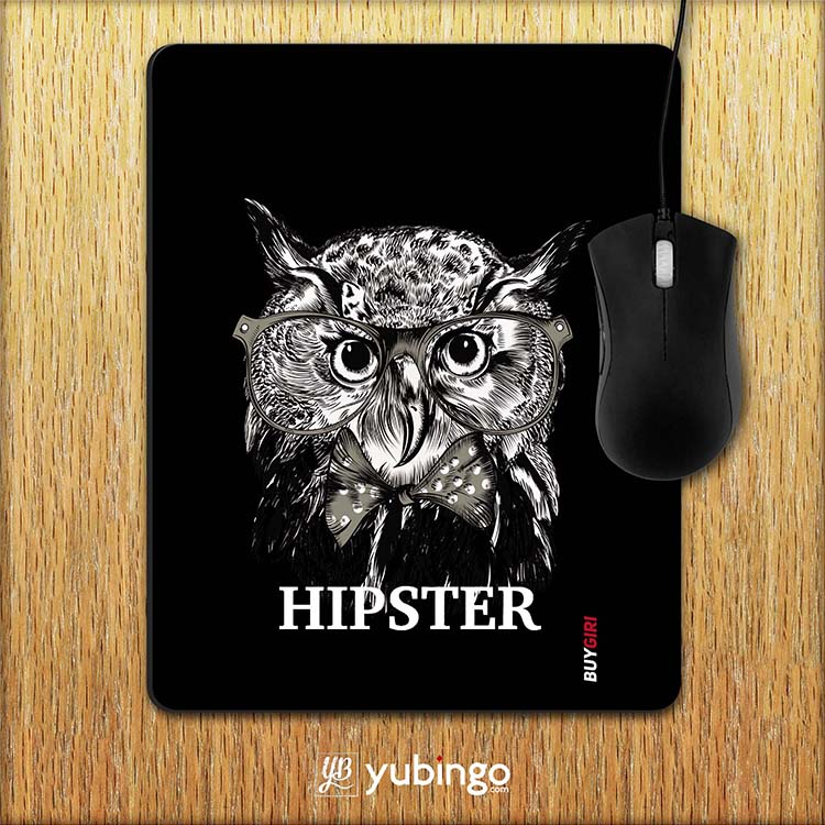 Hipster Owl Mouse Pad