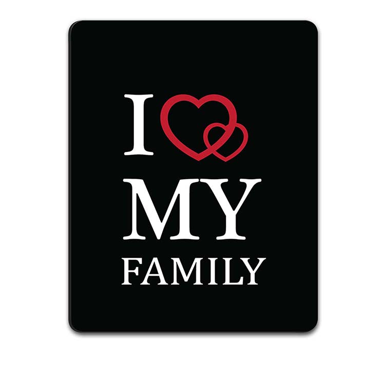 Yubingo Buy I Love My Family Design Own Mousepad In India Online