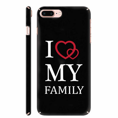 I Love My Family Back Cover for Apple iPhone 8 Plus