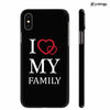 I Love My Family Back Cover for Apple iPhone X