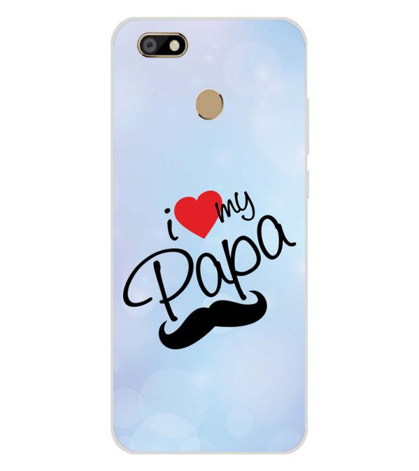 huge discount d0320 b13b7 I Love My Papa Soft Silicone Back Cover for Karbonn Titanium Jumbo 2