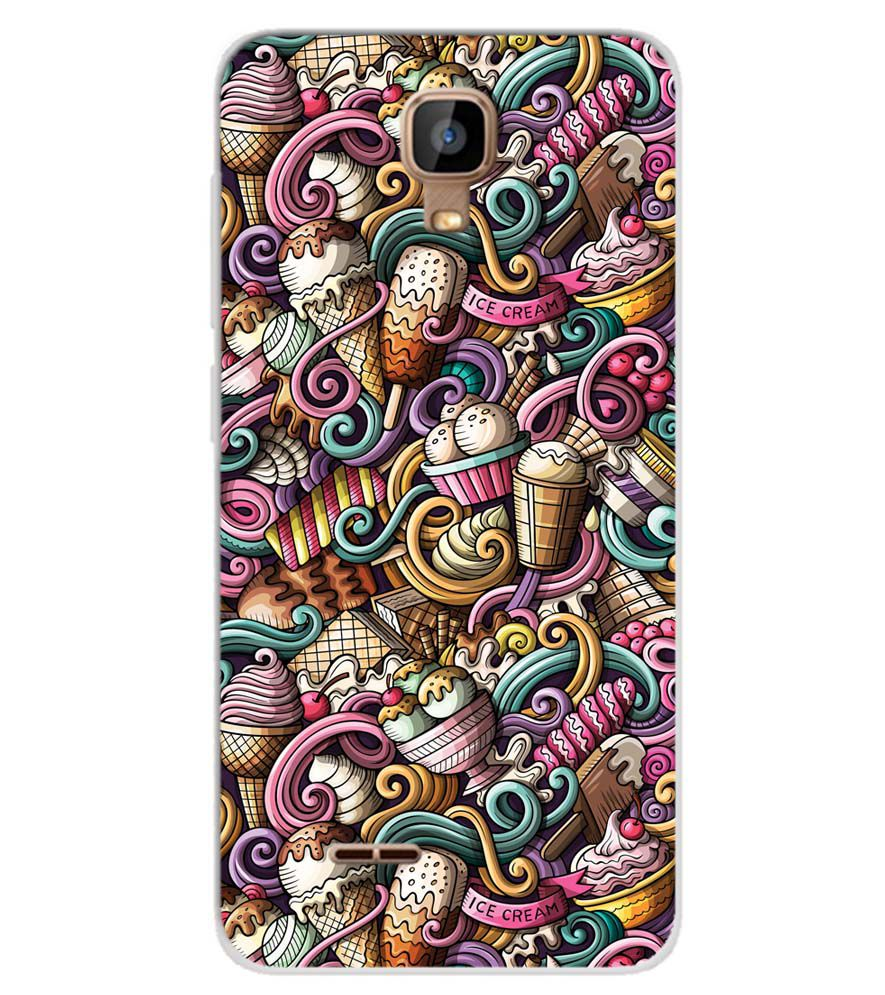 brand new 94d09 f68d3 Ice Cream Explosion Soft Silicone Back Cover for Karbonn A9 Indian