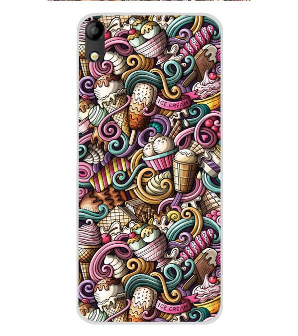 new arrival 7c212 86fc5 Ice Cream Explosion Soft Silicone Back Cover for Mobistar C1