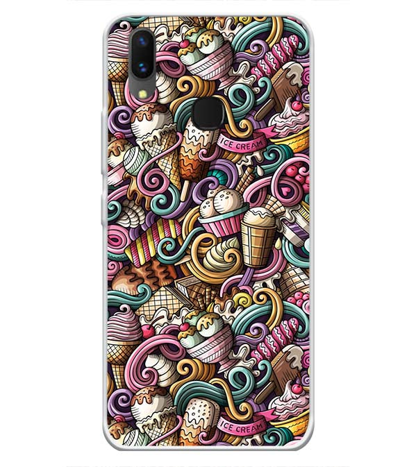 Ice Cream Explosion Soft Silicone Back Cover for Vivo X21