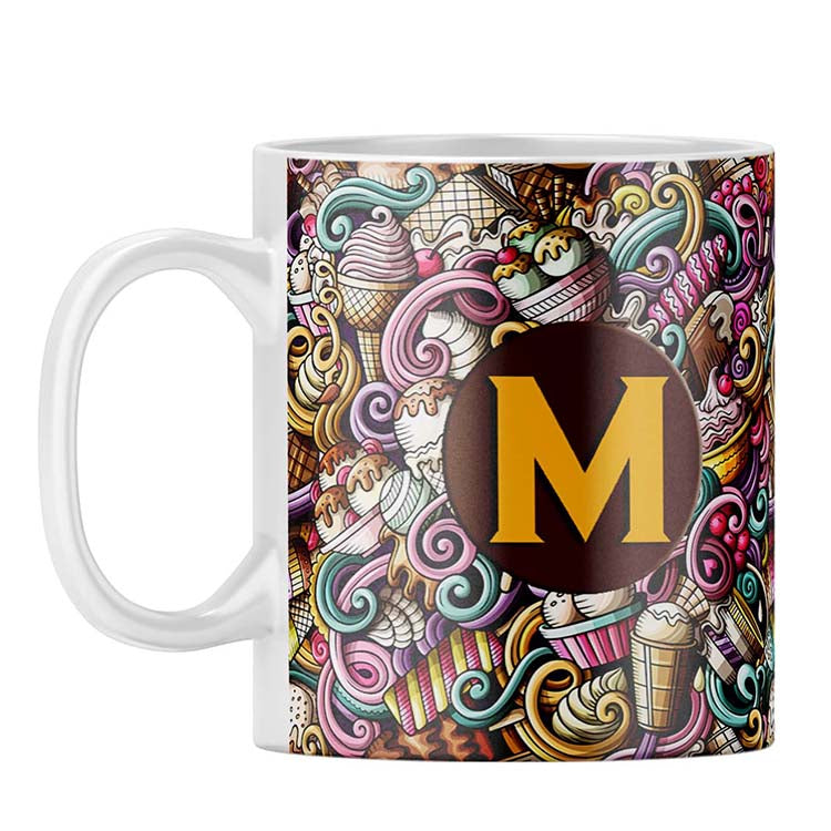 Ice Cream Explosion Customised Alphabet Coffee Mug