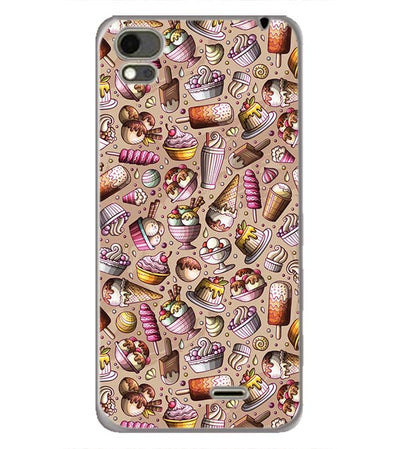 Ice Cream Overload Back Cover for Karbonn Aura Note 4G