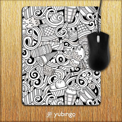 Ice Cream Sketch Mouse Pad-Image2