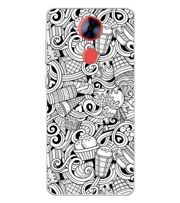 Ice Cream Sketch Soft Silicone Back Cover for Comio X1