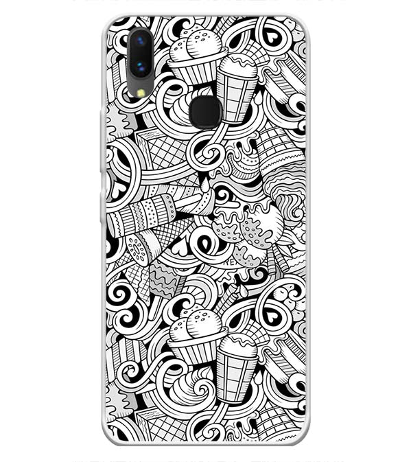 Ice Cream Sketch Soft Silicone Back Cover for Vivo X21