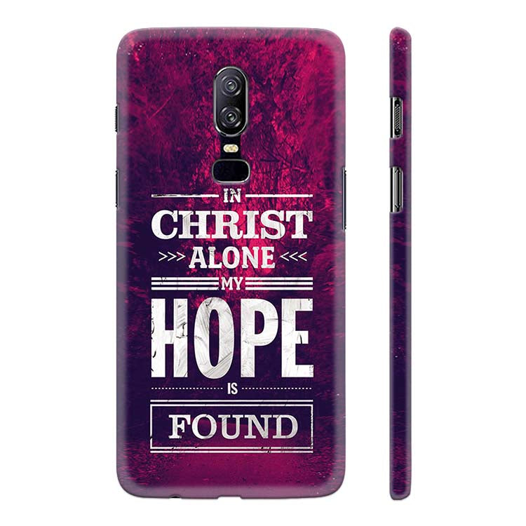 new product 56ad6 63eb9 In Christ I Find Hope Back Cover for OnePlus 6