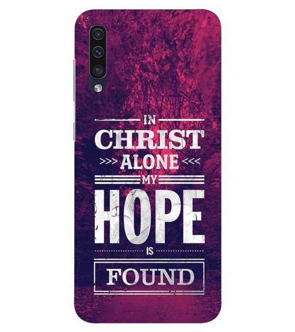In Christ I Find Hope Back Cover for Samsung Galaxy A50