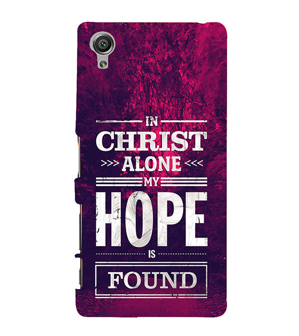 In Christ I Find Hope Back Cover for Sony Xperia X