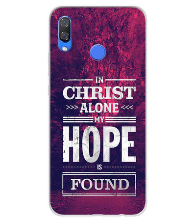 In Christ I Find Hope Soft Silicone Back Cover for Huawei Y9 (2019)