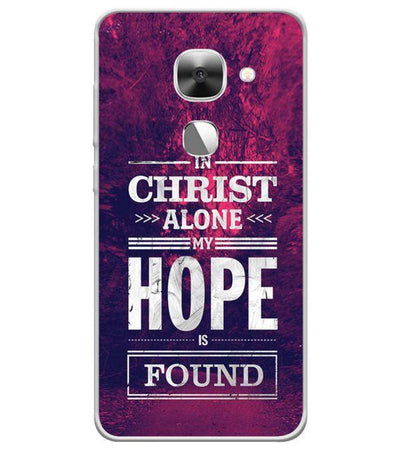 In Christ I Find Hope Back Cover for LeEco Le 2s