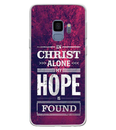 In Christ I Find Hope Back Cover for Samsung Galaxy S9