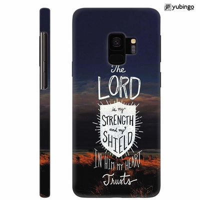 In Lord My Heart Trusts Back Cover for Samsung Galaxy S9