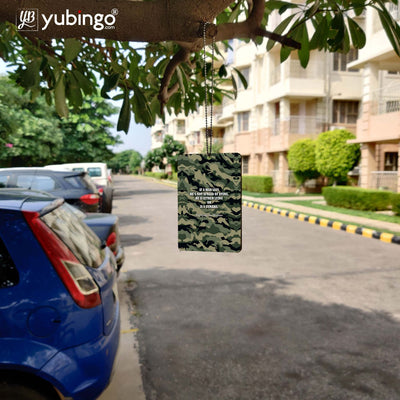 Indian Army Quote Car Hanging-Image4
