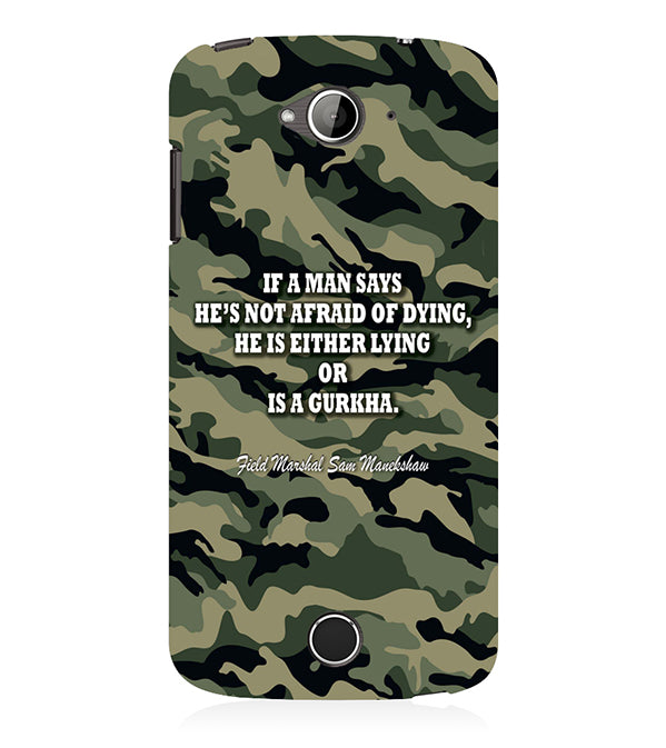 Indian Army Quote Back Cover for Acer Liquid Zade 530