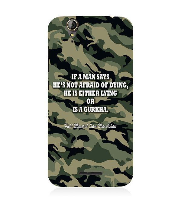 Indian Army Quote Back Cover for Acer Liquid Zade 630