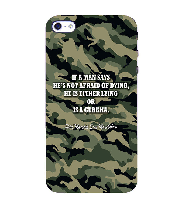 Indian Army Quote Back Cover for Apple iPhone 4 : 4S