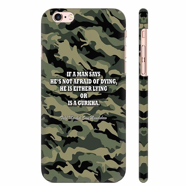 brand new 8ca0f 82101 Indian Army Quote Back Cover for Apple iPhone 6 Plus and iPhone 6S Plus