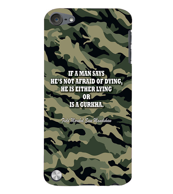 Indian Army Quote Back Cover for Apple iPod Touch 5