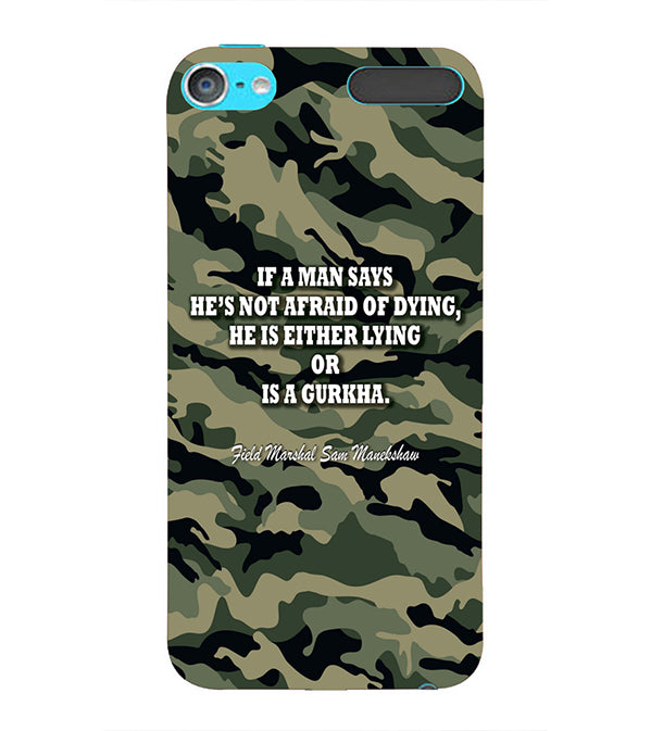 Indian Army Quote Back Cover for Apple iPod Touch 6