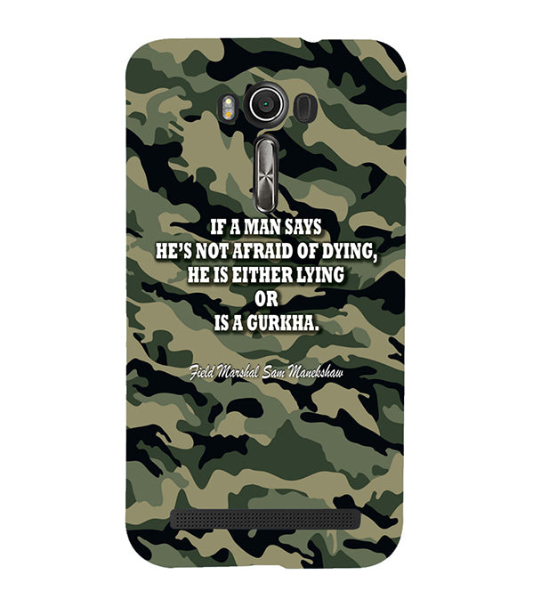 Indian Army Quote Back Cover for Asus Zenfone 2 Laser ZE550KL
