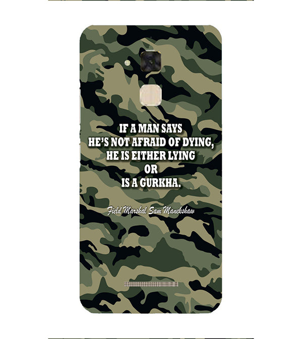 Indian Army Quote Back Cover for Asus Zenfone 3 Max ZC520TL