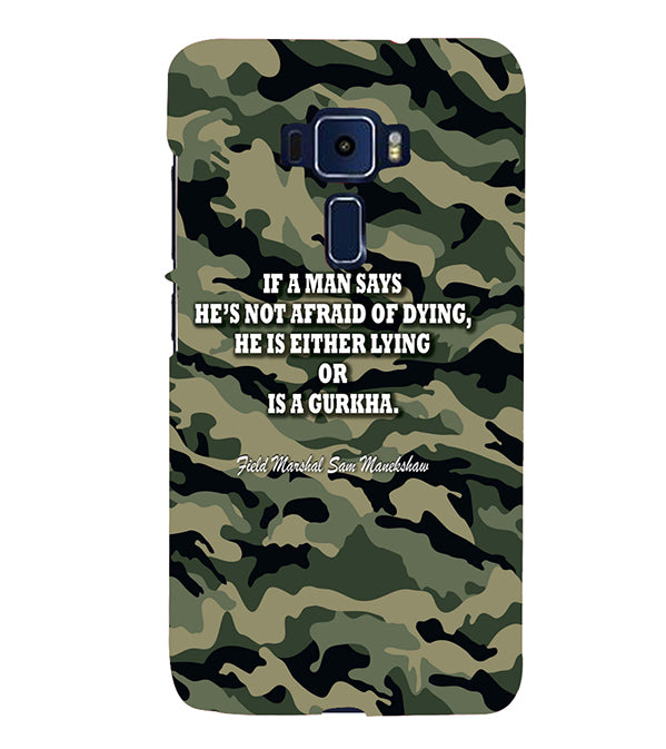 Indian Army Quote Back Cover for Asus Zenfone 3 ZE520KL