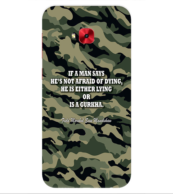 Indian Army Quote Back Cover for Asus Zenfone 4 Selfie