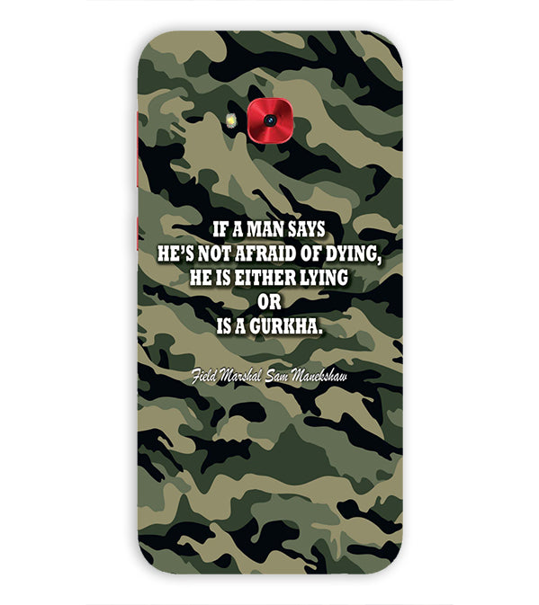 Indian Army Quote Back Cover for Asus Zenfone 4 Selfie Pro ZD552KL