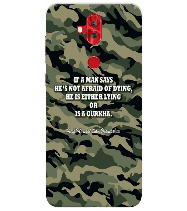 Indian Army Quote Back Cover for Asus Zenfone 5 Lite ZC600KL