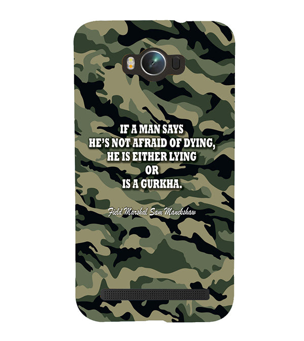 Indian Army Quote Back Cover for Asus Zenfone Max ZC550KL