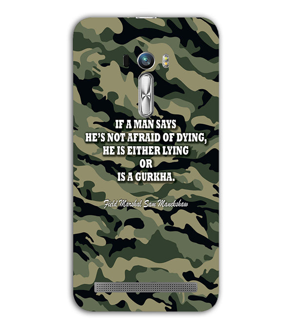 Indian Army Quote Back Cover for Asus Zenfone Selfie